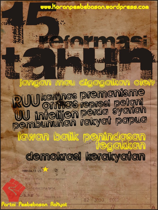 15 Tahun Reformasi [1998-2013]